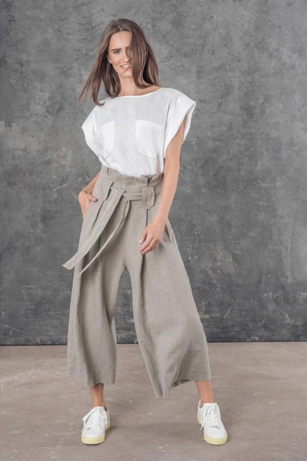 Linen culottes LUIS