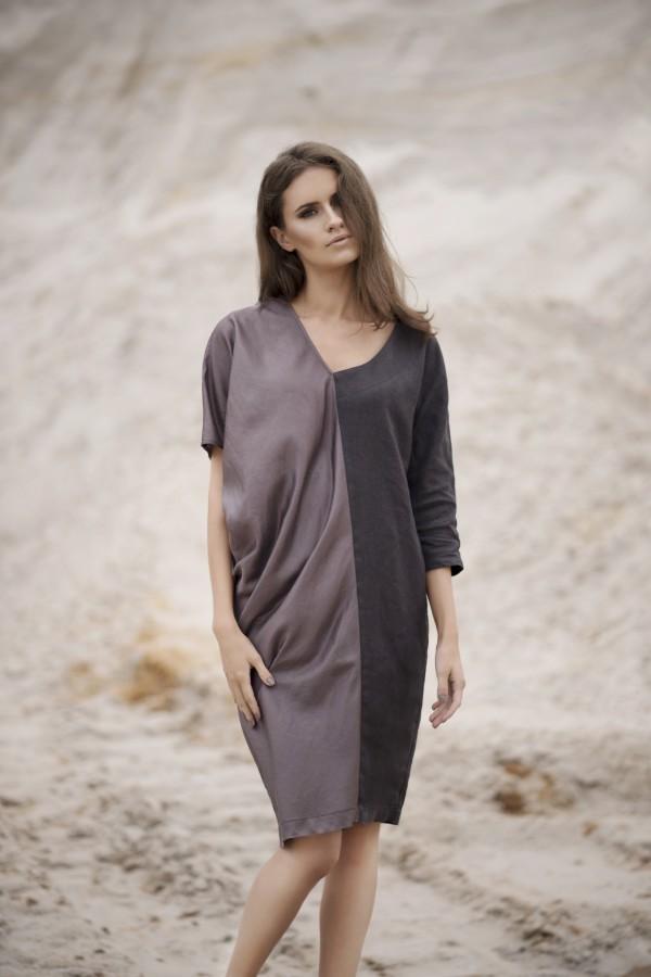 Asimetrinė suknelė SL8633